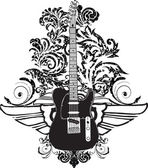 Electric Guitar design — Stockvector