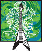 Electric Guitar design — Stock Vector