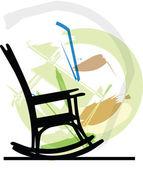 Rocking chair. Vector illustration — Stock Vector