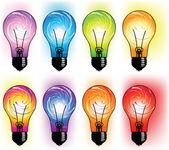 Glödlampa illustration — Stockvektor