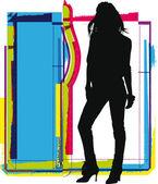 Woman Illustration — Wektor stockowy