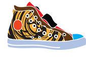 спортивная обувь дизайн — Cтоковый вектор