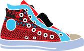 Sport scarpe design — Vettoriale Stock