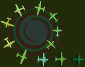 Ilustración de vector de avión — Vector de stock