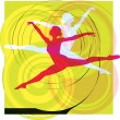 Ballet, Vector illustration - Stock Vector