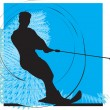 Royalty-Free Stock Vector Image: Water skiing man. vector illustration