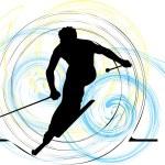 Skiing vector illustration — Stock Vector #9263521