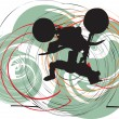 Abstract sketch of biker. Vector Illustration — Grafika wektorowa
