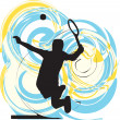 Tennis player. Vector illustration - Stock Vector