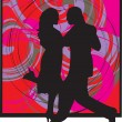 Couple dancing illustration — Stockvector #9264540