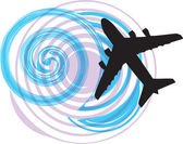 Airplane vector illustration — Vecteur
