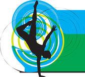 Dansen. vectorillustratie — Stockvector