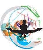 Bailando. ilustración vectorial — Vector de stock