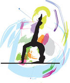 Ballet, Vector illustration — Vettoriale Stock