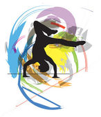 Dancing. Vector Illustration — Vettoriale Stock