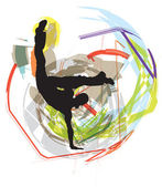 Dancing. Vector Illustration — Stockvector