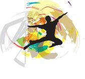 Dancing. Vector Illustration — Stock Vector