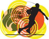 Basketbalový hráč v akci. vektorové ilustrace — Stock vektor