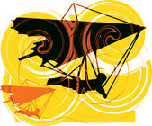 Hang Glider. Vector Illustration — Stok Vektör
