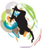 Ilustração de skatista. ilustração vetorial — Vetorial Stock