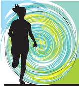 Running woman illustration — Stockvector