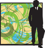 Businessman. Vector Illustration — Stock Vector