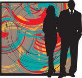 Couple. Vector Illustration — Stock Vector