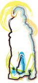 Vänner. redigerbara vektor illustration — Stockvektor
