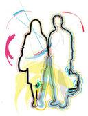 Couple illustration — Stock Vector
