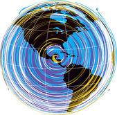 Mapa vetor abstrato da américa — Vetorial Stock