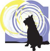Hund, vektor-illustration — Stockvektor
