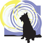 狗,矢量图 — 图库矢量图片
