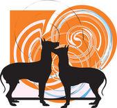 Dog, vector illustration — Stock Vector