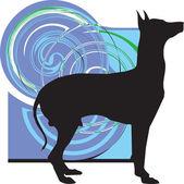 Hond, vectorillustratie — Stockvector