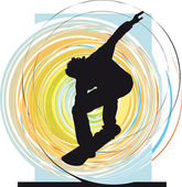 Skater illustration. Vector illustration — Stock Vector