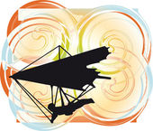 Hang Glider. Vector Illustration — Stock vektor