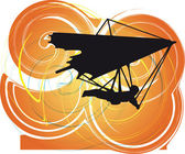 Hang Glider. Vector Illustration — Stock Vector