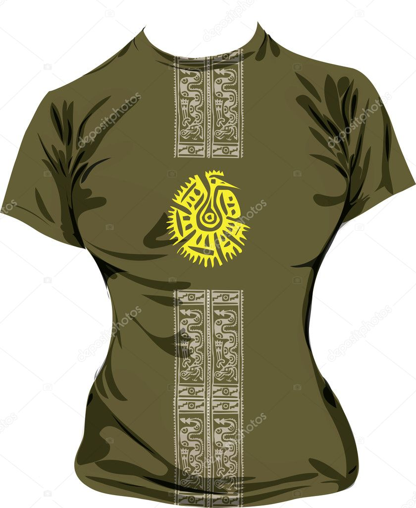 Ancient t-shirt illustration, vector illustration made in adobe illustrator — Stock Vector #9265396