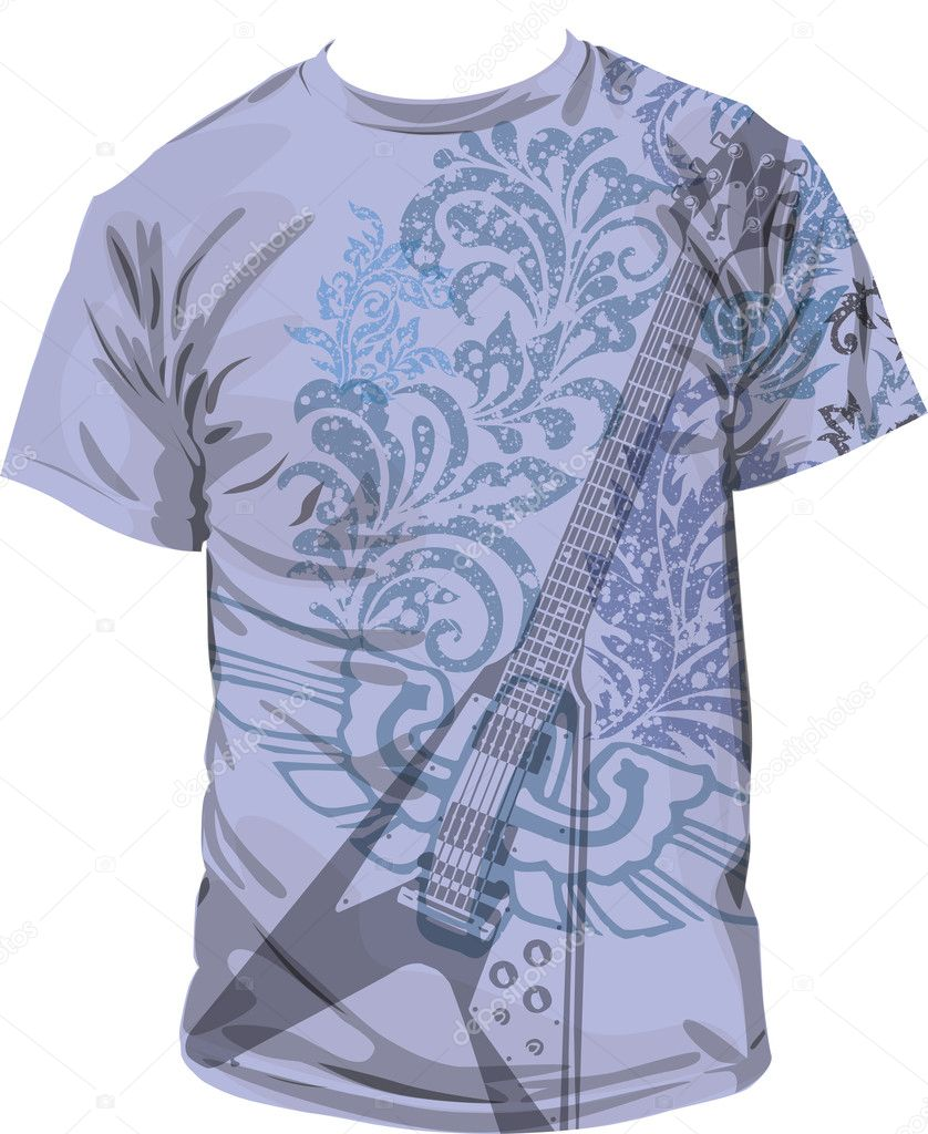 T-shirt illustration, vector illustration made in adobe illustrator — Stock Vector #9265507