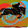 Abstract horses silhouettes. Vector illustration — Stock Vector #9282615
