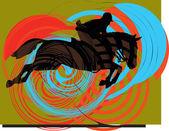 Abstraktní koně siluety. vektorové ilustrace — Stock vektor