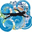 Mswimming. Vector illustration — Stockvector #9294950