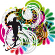 Skiing vector illustration — Stock Vector #9295040