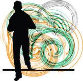 Businessman running. Vector illustration — Stock Vector