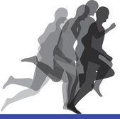 Running men illustration — Stock Vector