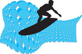 Surf. Vector illustration — Vettoriale Stock