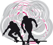 Skater silhouette vector illustration — Stock Vector