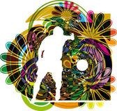Futbol oyuncusu. vektör çizim — Stok Vektör