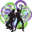 Couple dancing illustration — Stock Vector #9373615