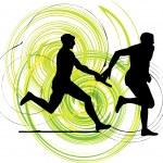 Running men, Vector illustration — Stock Vector